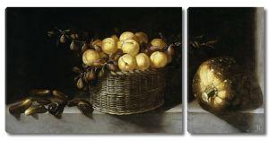 Хуан Ван дер Хамен. Натюрморт с фруктами и овощами