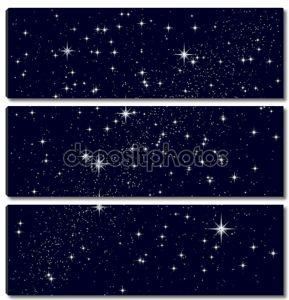 Векторная иллюстрация звездного неба