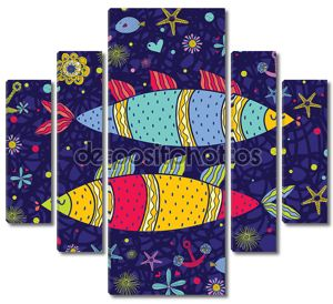 море открытка с рыбами