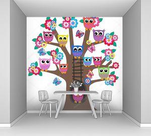 Дерево, полное сов