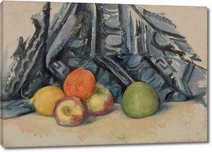 Поль Сезанн. Яблоки и Ткань