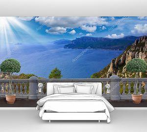 Терраса с видом на море, Франция