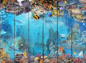 Подводный коралловый мир с затонувшем кораблем