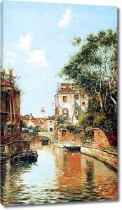 Красочный вид на летнюю Венецию