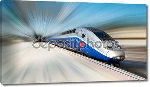 Высокая скорость поезда движение blur
