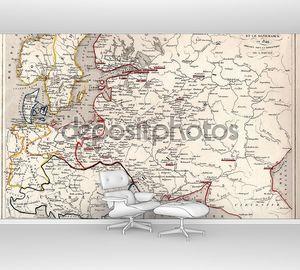 Старая карта территории России