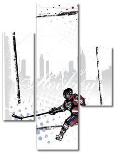 Рисунок с хоккеистом
