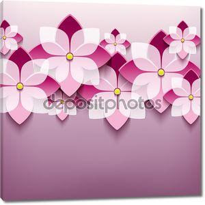 Цветочный модный фон с 3D цветком сакуры