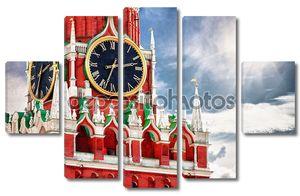 Спасская башня с часами. Россия, Красная площадь, Москва