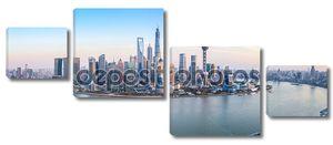 Шанхай панорамным видом на горизонт