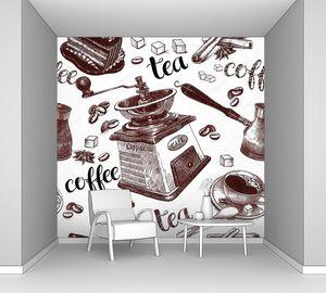 кофе и чай, рисунки