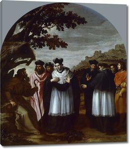 Кардучо Висенте. Святой Бруно и его шесть спутников посещают отшельника