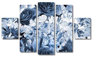 Цветущие садовые пионы, розы, тюльпаны