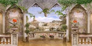 Вид на город сквозь арки
