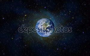 Планета Земля пространства звёзд