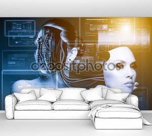 CyberFashion. Абстрактный техно стола