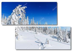 Фантастический зимний пейзаж