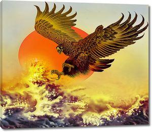 Орел над огненными волнами