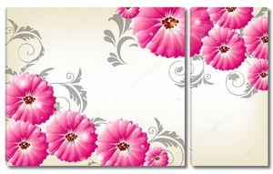 Большие круглые розовые цветы