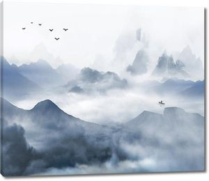 Облачный горный каскад