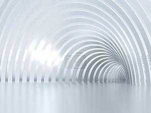 Освещенные коридор 3d