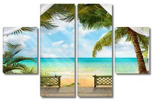 Терраса с видом на пляж