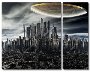 3D чужеродных НЛО космический корабль