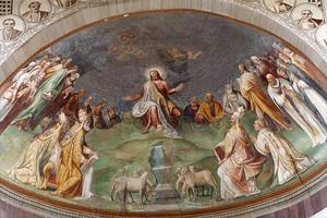 Рим - Иисуса учителем фреска из церкви Санта-Сабина
