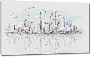 Рисованный мегаполис