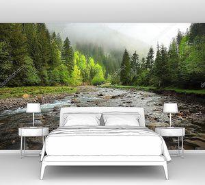 Река в зеленом лесу