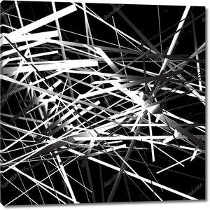 Абстрактный фон черно-белые линии