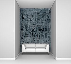 Вертикальные надписи на гранжевой стене