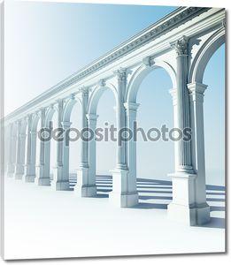Классическая колоннада с аркадами