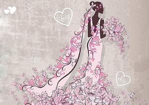 Девушка в платье из цветов