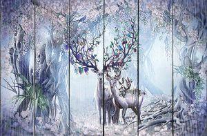 Олени в сказочном лесу