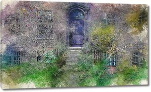 Заброшенный сад у дома