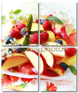 Свежий фруктовый десерт