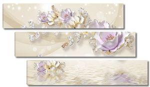 Нежные фарфоровые цветы