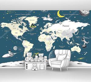 Карта мира на космическую тему