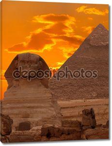 Сфинкс и Великая пирамида, Египет