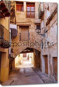 Деревня Beceite в Испании Теруэль