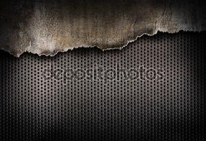 Разорванный металлический фон