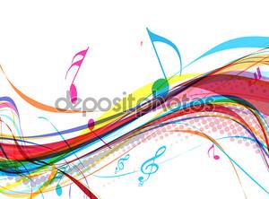 Абстрактная Музыка отмечает дизайн