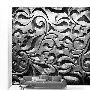 Металл с классическим орнаментом