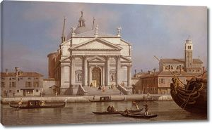 Каналеетто. Венеция, вид на церкви Реденторе и Сан Джакомо