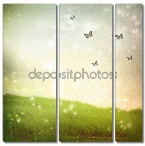 Бабочки в Фантазийный пейзаж