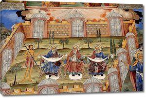 Фрески православной церкви. Рильский монастырь Болгарии