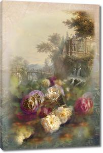 Розы на фоне природы