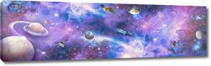 Космические корабли в открытом космосе