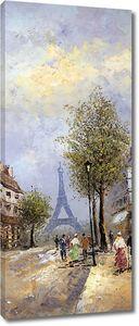 Фреска с видом на Эйфелеву башню